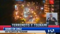 Alerta de tsunami en varios países, incluido Ecuador, por terremoto en Chile