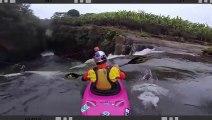 Descente d'une cascade en Kayak vu de l'interieur... Dingue!