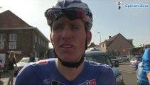 Arnaud Démare à l'arrivée de la 2e étape des 3 Jours de La Panne 2014 - 3 Daagse De Panne