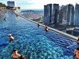 Marina Bay Sands.Integrated Resort Fronting Marina Bay in Singapore.