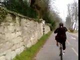 Roue arrière en vélo par Vincent