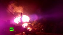 Canada Inferno video: Close-up footage of fuel train explosion in Quebec