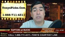 Milwaukee Bucks vs. Toronto Raptors Pick Prediction NBA Pro Basketball Odds Preview 4-5-2014