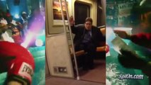 Ivre, il chante To the Window to the Wall dans le métro