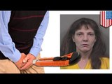 Indiana woman cuts man's junk with box cutter