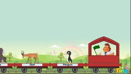 The Animal Train - Kids Song | HD