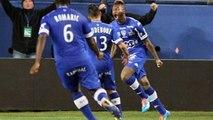 La superbe reprise de volée de Djibril CISSE (68ème) - SC Bastia - FC Sochaux-Montbéliard - (2-2) - 05/04/14