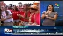 Contendientes a la presidencia de Costa Rica ya votaron