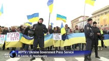 Pro-Russians cleared from govt building in Ukraine's Kharkiv