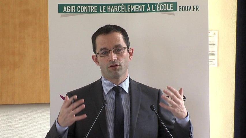 [ARCHIVE] Remise des prix mobilisons-nous contre le harcèlement : discours de Benoît Hamon