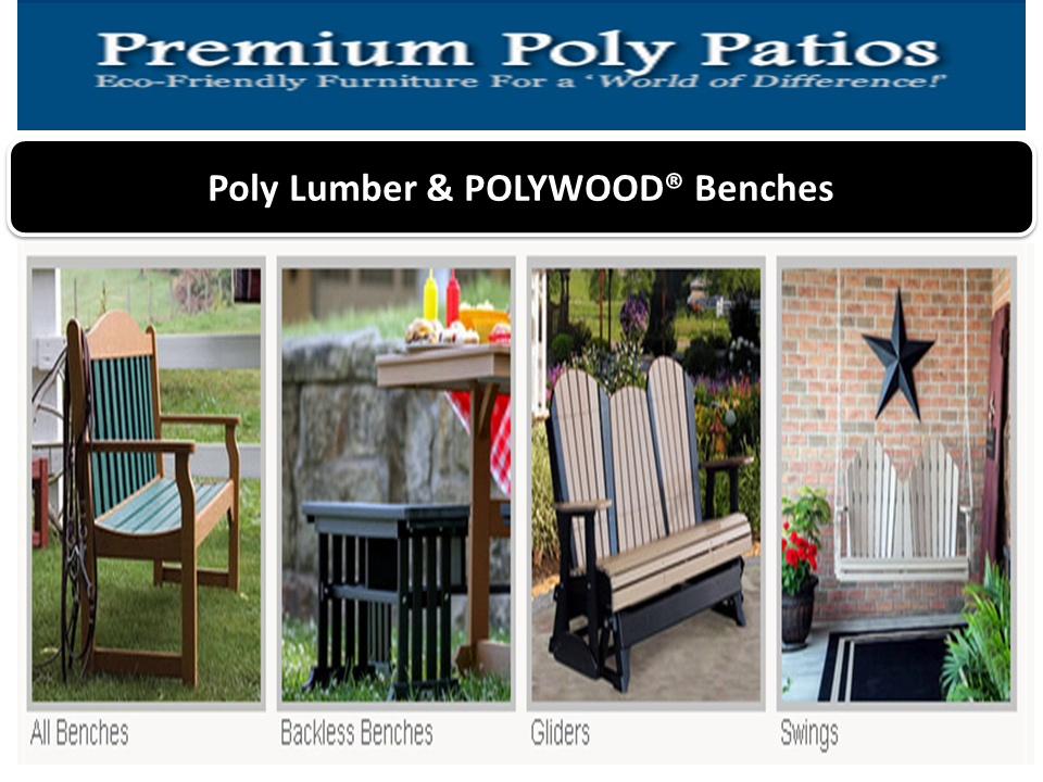 Premium Poly Patios : Plastic adirondack chairs