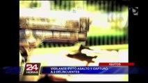 Iquitos: vigilante frustra asalto y captura a dos delincuentes