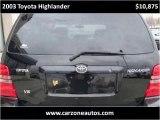 2003 Toyota Highlander Used SUV for Sale Baltimore Maryland
