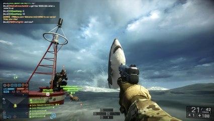 Battlefield 4: Naval Strike Megalodon - Giant Shark Easter Egg