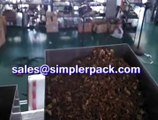 Cassia seed tea packaging machinery, nylon triangle teabag packing machine