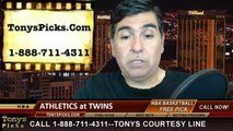 MLB Odds Minnesota Twins vs. Oakland Athletics Pick Prediction Preview 4-10-2014