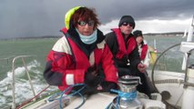 Before the Fury, sailing outside Shoreham Harbour. The Devils Advocate in the Sussex Yacht Club Spring Series 2014
