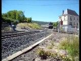 TRAINS INTERCITES 4591 & 4492, LE VENTADOUR de CLERMONT-FD à ROYAT-CHAMALIERES, du 16 au 25 Mai 2014.