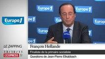 """Aubry: """"Hollande essaye de passer entre les gouttes"""" / Le Zapping des matinales"""
