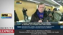 L'arrivée de Florence Cassez à Roissy, entourée de journalistes fébriles