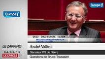 """Impopularité: """"François Hollande ne gouverne pas aux sondages"""", affirme André Vallini"""