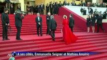 Roman Polanski sur les marches à Cannes
