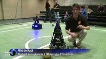 Coupe du monde foot robot : les Néerlandais à l'entrainement
