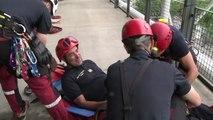 Simulation d'évacuation par les pompiers à Beaubourg