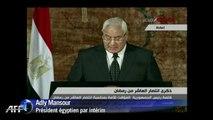 les promesses du président Adly Mansour