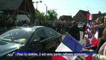 Réforme des rythmes scolaires: François Hollande et Vincent Peillon visitent une école dans le Nord