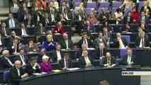 Merkel veut plus d'intégration dans les traîtés européens