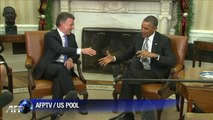 Barack Obama salue les efforts de son homologue colombien Juan Manuel Santos