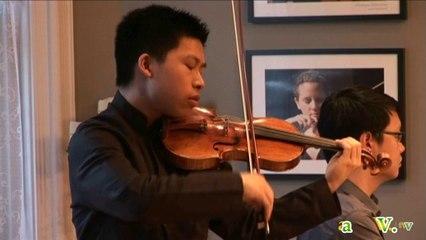 Le jeune violoniste de 17 ans, Kerson Leong à la Maison de la Musique de Sorel-Tracy