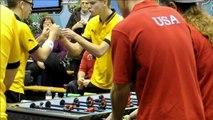 Coupe du monde de baby foot à Nantes: Victoires des Danoises et des Américains