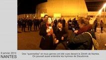 Dieudonné à Nantes: les spectateurs manifestent leur mécontentement devant le Zénith