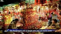 Hong Kong: le Nouvel An Lunaire célébré au plus grand temple de la ville