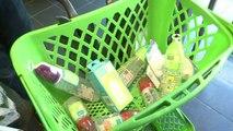 Dans un supermarché,  Ségolène Royal alerte sur les dangers du bisphénol