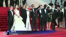 """Cannes: Ryan Gosling, réalisateur de """"Lost River"""", sur le tapis rouge"""