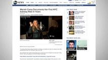 Mariah Carey Rides NYC Subway Wearing Evening Gown