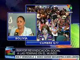 Diputada boliviana destaca avances del Encuentro de Mujeres