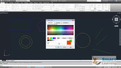 Color Properties_Autocad_Sample_Video