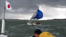 The Fury. Devils Advocate, First 48 Beneteau, outside Shoreham Harbour, Sussex Yacht Club Spring Series 2014.