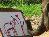 Elephant painting an elephant