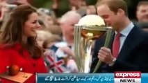 Prince William and Kate Middleton playing Cricket