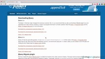 jQuery and AJAX Tutorials 1   Getting Started with jQuery