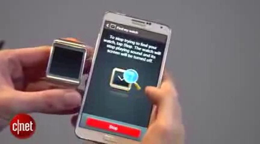 Samsung Galaxy Gear smart touch watch with smart phone