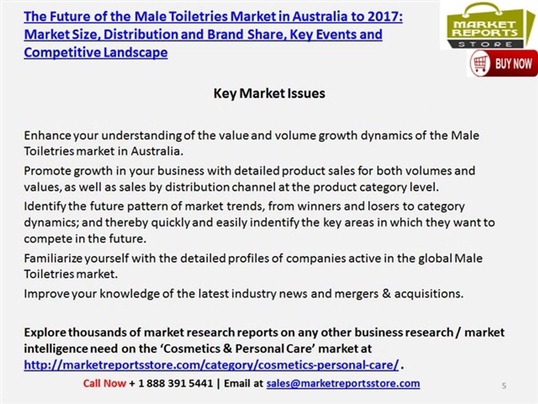 Male Toiletries Market in Australia to 2017: Market Size, Distribution