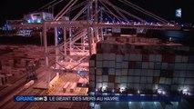 """Escale au Havre pour le """"Magleby Maersk"""", géant des mers"""