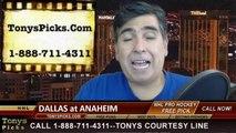 Anaheim Ducks vs. Dallas Stars Pick Prediction NHL Pro Hockey Playoff Game 1 Odds Preview 4-16-2014