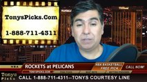New Orleans Pelicans vs. Houston Rockets Pick Prediction NBA Pro Basketball Odds Preview 4-16-2014